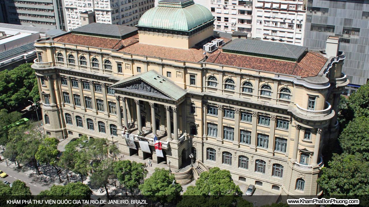 Thư viện quốc gia tại Rio De Janeiro, Brazil | Khám Phá Bốn Phương